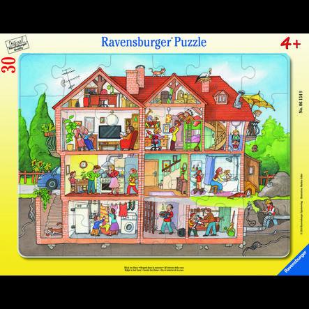 Ravensburger Frame puzzle - utsikt inn i huset, 30 stk