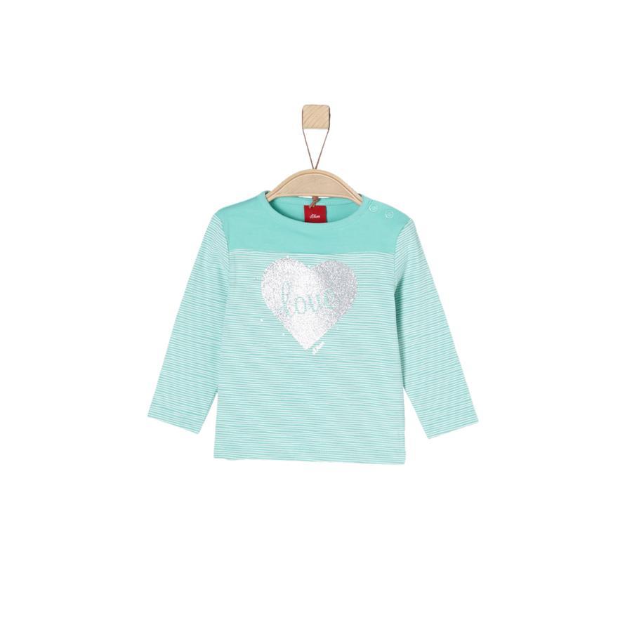 s.Oliver Girl s shirt met lange mouwen blauwgroen