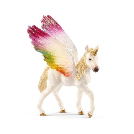 SCHLEICH Regnbue-enhjørning med vinger, føl 70577