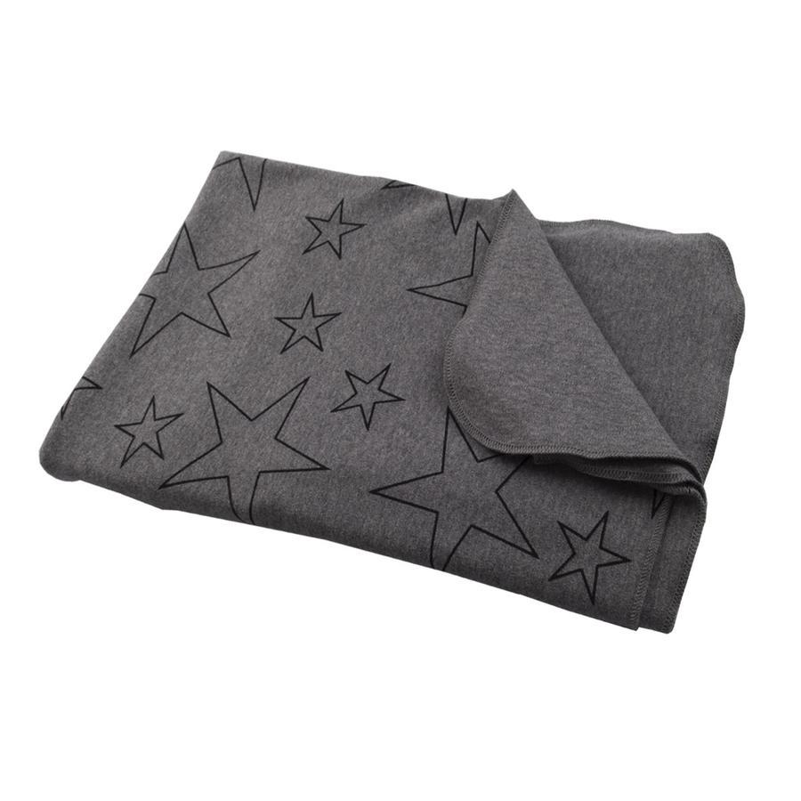 Hoppediz Wikkeldoek grijs met sterren