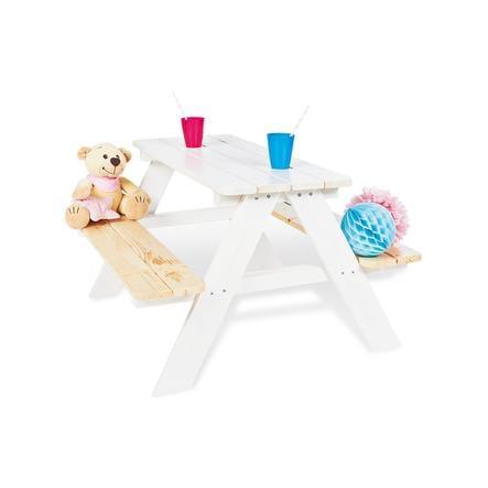 Pinolino Kinder Picknicktafel Nicki voor 4 wit
