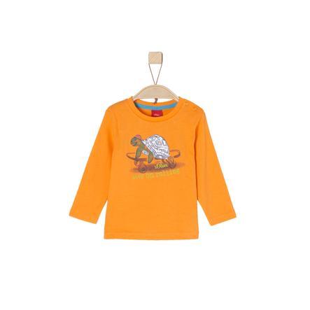 s.Oliver Boys Shirt met lange mouwen oranje
