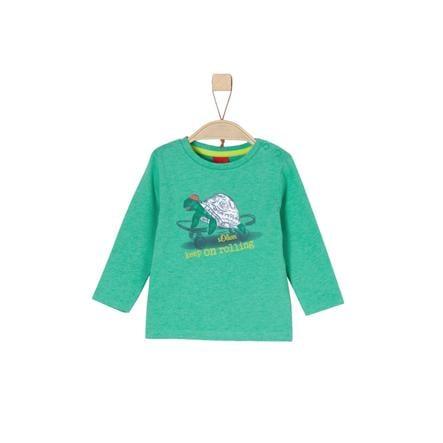 s.Oliver Boys Chemise manches longues vert melange