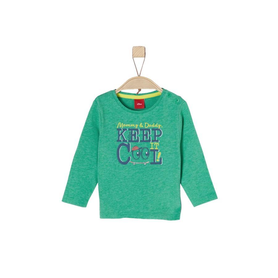 s.Oliver Boys Camisa manga larga verde mélange
