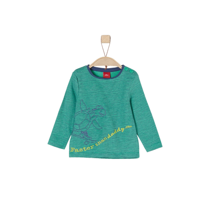 s.Oliver Boys Camicia manica lunga verde