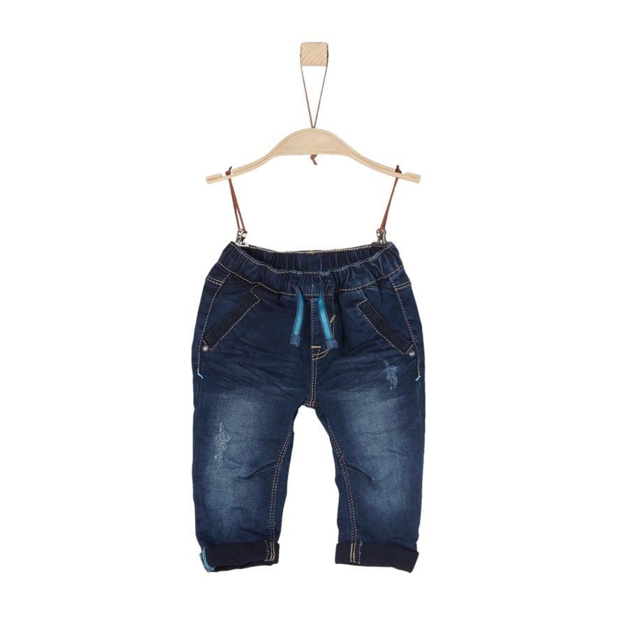 s.Oliver Boys Dżinsy ciemnoniebieskie dżinsy rozciągają się regularnie.