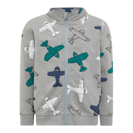 name it Boys Sweatjacke Nmmgikko grey melange