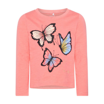 name it Girls Langarmshirt Nmfgiluna sunkist coral