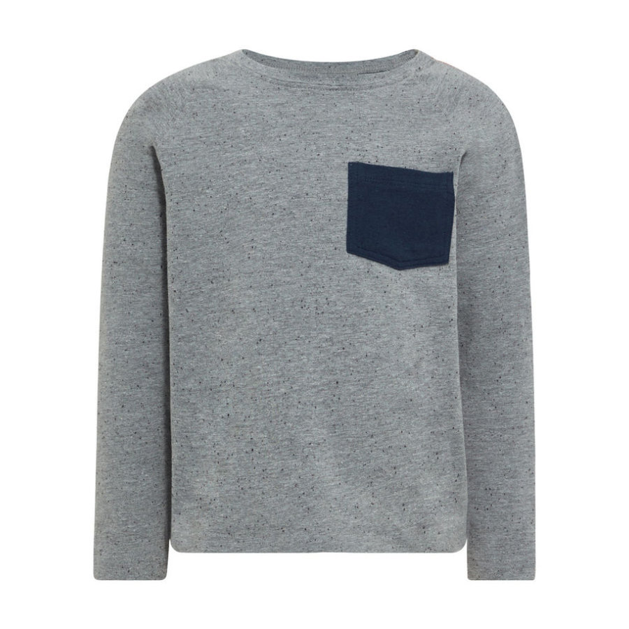 name it Boys Langarmshirt Nmmgister grey melange
