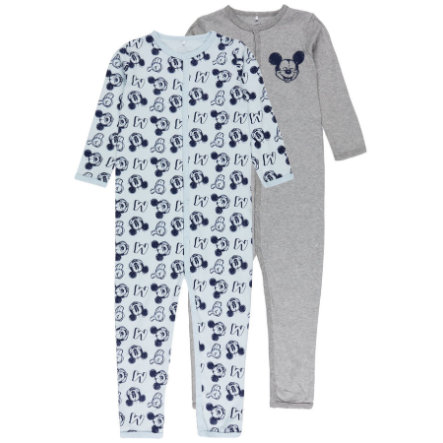 name it Boys Schlafoverall Mickey 2er-Pack baby blue