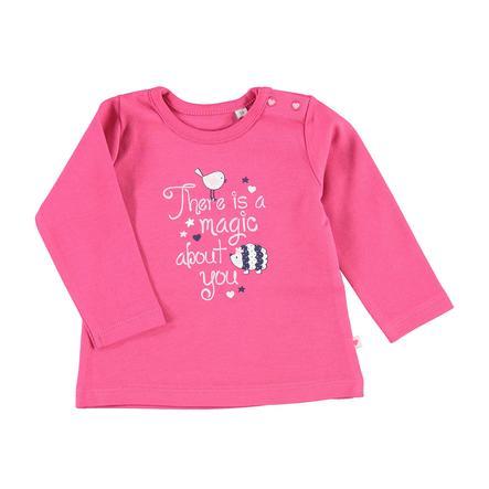 SALT AND PEPPER Langarmshirt Happy Print rosy pink