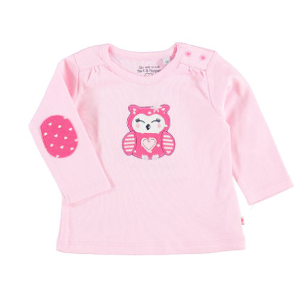 SALT AND PEPPER Girls Langarmshirt Eule rosa