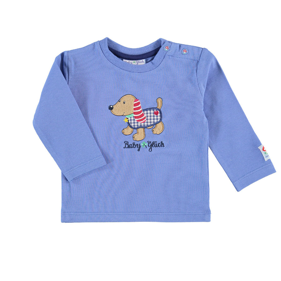 SALT AND PEPPER Boys Camisa de manga larga dachshund azul claro
