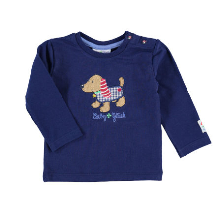 SALT AND PEPPER Boys Langarmshirt Dackel navy