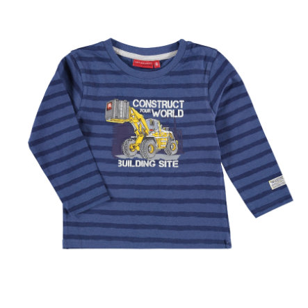 SALT AND PEPPER Boys Lange mouw shirt Enorme machine streep nordic blauw