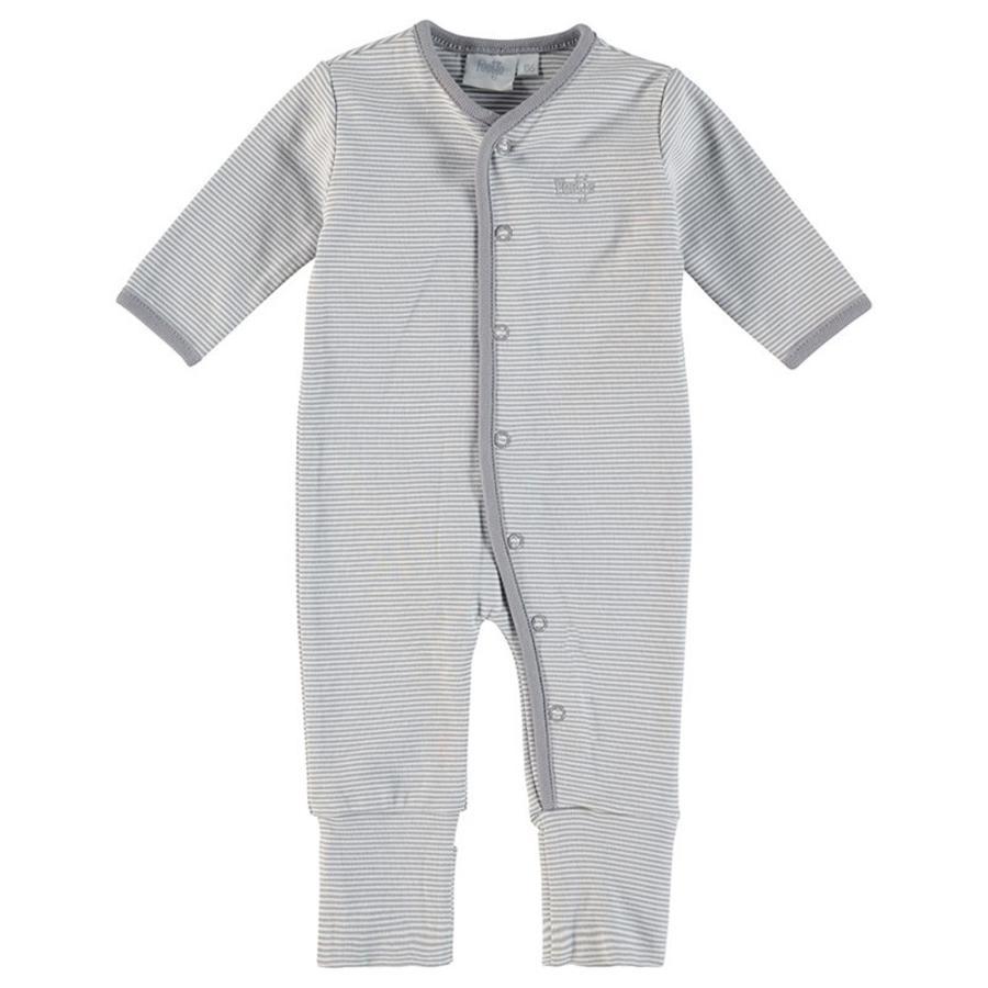 Feetje Schlafanzug Ringel grau