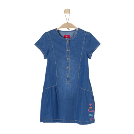 s.Oliver Girl s jeans dress blue denim non stretch
