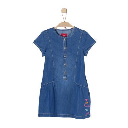 s.Oliver Girl s jeans vestido azul denim no stretch