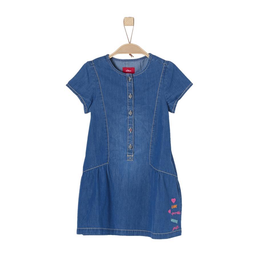 s.Oliver Girl s spijkerbroek jurk blauw denim niet rekbaar