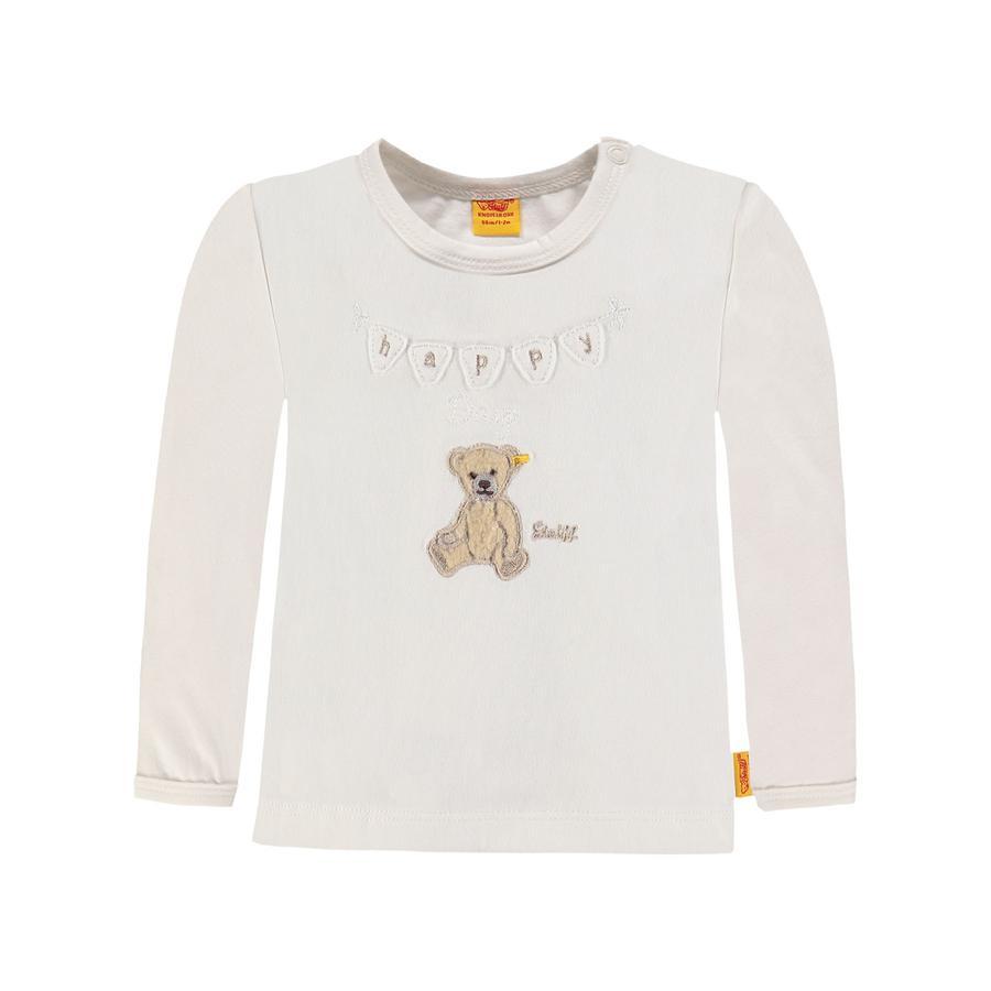 Steiff Girl s Camisa de manga larga, blanca