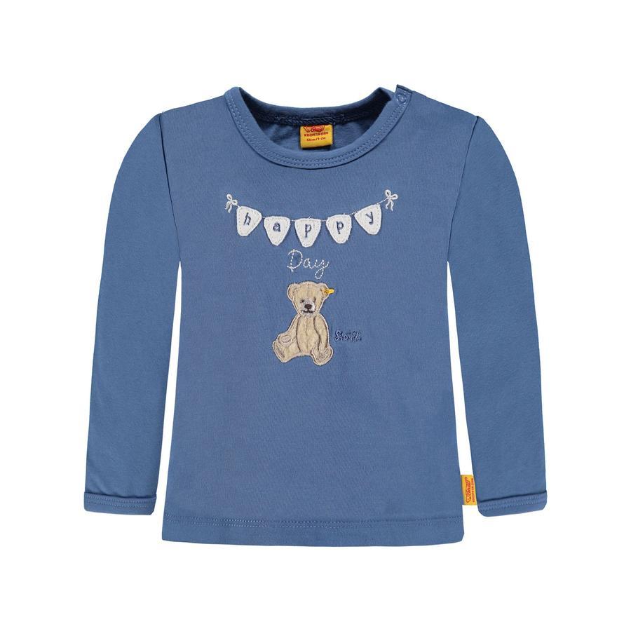 Steiff Girl s Koszula z długim rękawem, niebieska
