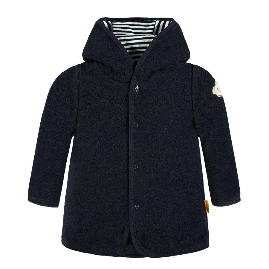 Steiff Boys Sweatjacke Fleece, marine