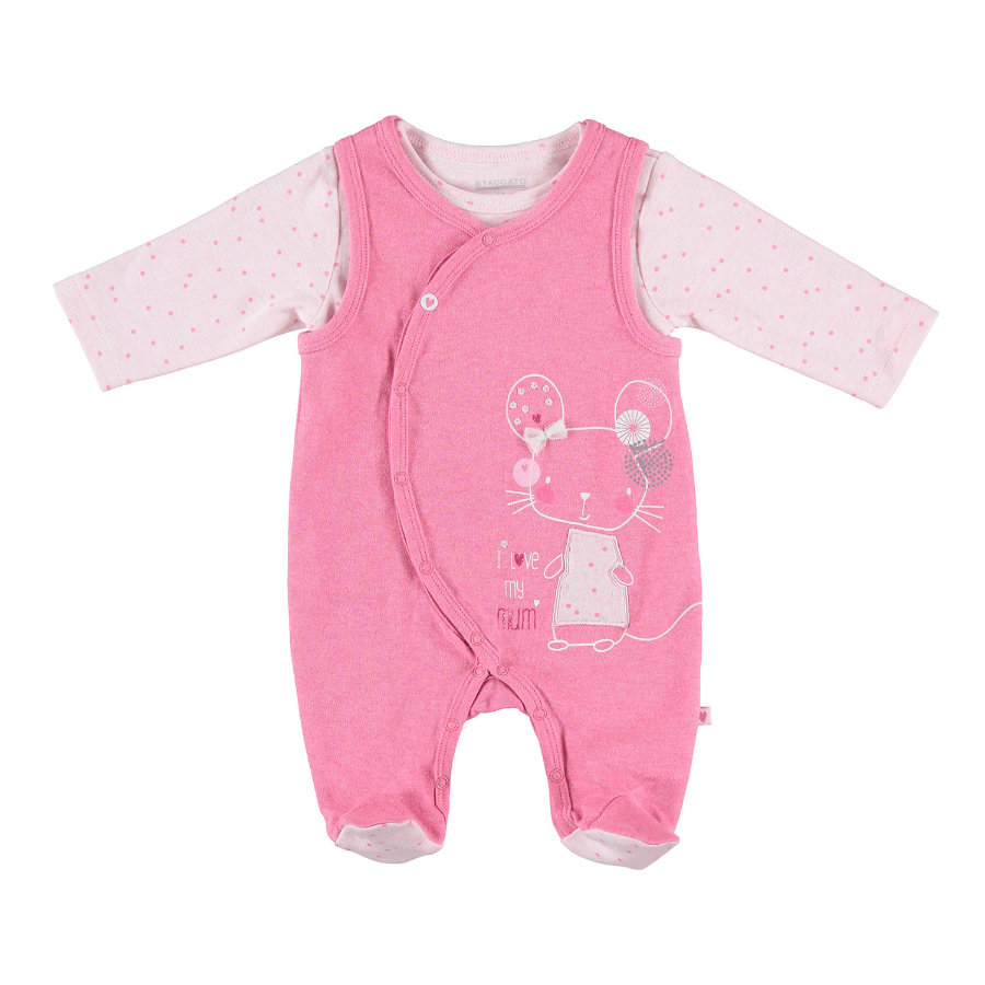 STACCATO Girls Strampler Set berry melange