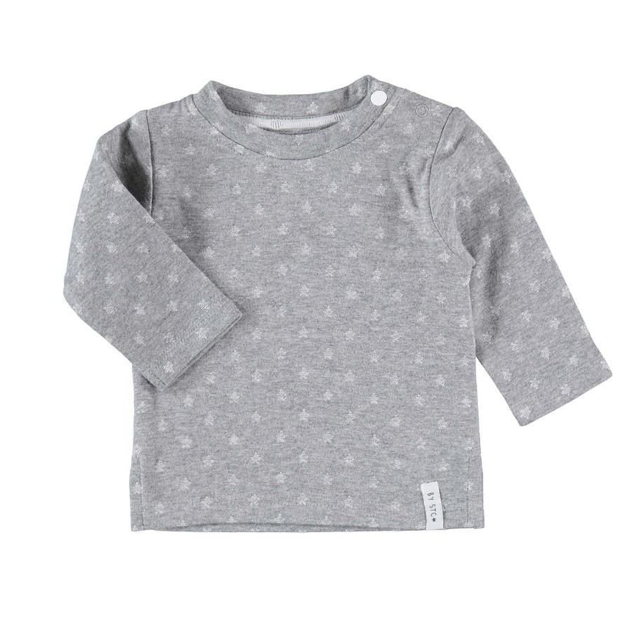 STACCATO Koszula z długim rękawem w kolorze szarym melliert