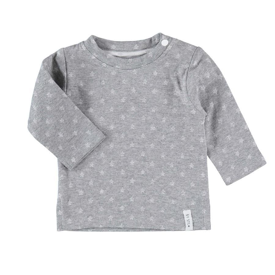 STACCATO Lange mouw shirt grijs melliert