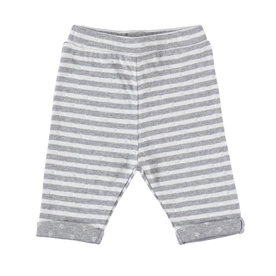 STACCATO Pantalon de survêtement rayé blanc cassé