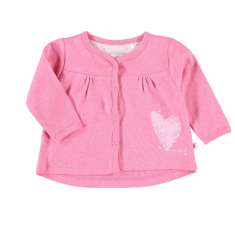 STACCATO Girls Sweatjacke berry melange