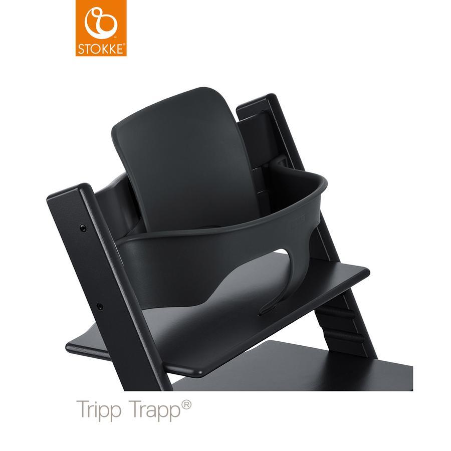 stokke tripp trapp baby set schwarz. Black Bedroom Furniture Sets. Home Design Ideas