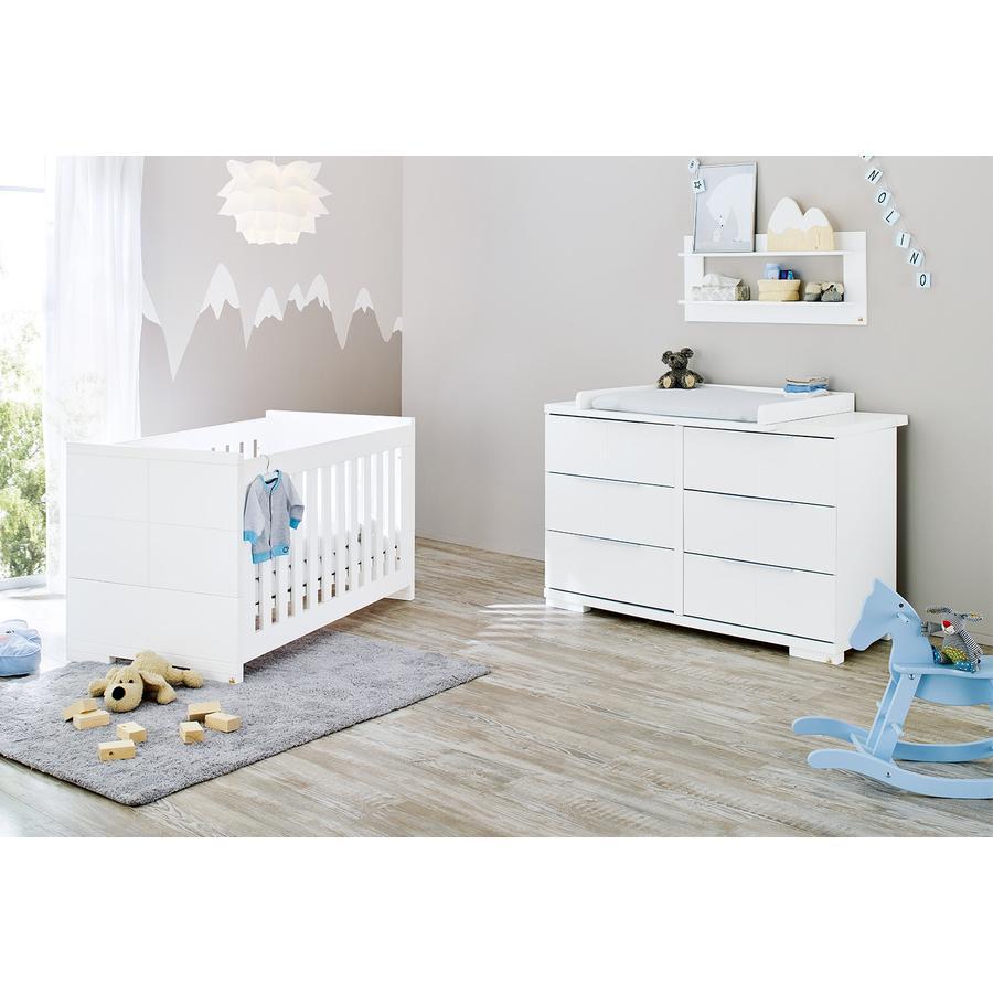 Pinolino Set cameretta neonato Lettino e fasciatoio Polar, extra largo
