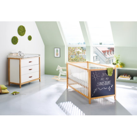 Pinolino Ensemble lit bébé commode Calimero, peinture aérosol, blanc