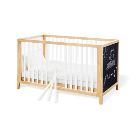 Pinolino Lit enfant à barreaux Calimero 70x140 cm, peinture aérosol, bois blanc