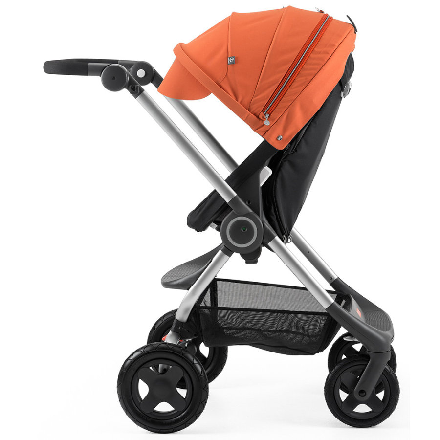 STOKKE® Scoot™ V2 Gestell Black inkl. Sonnendach Orange