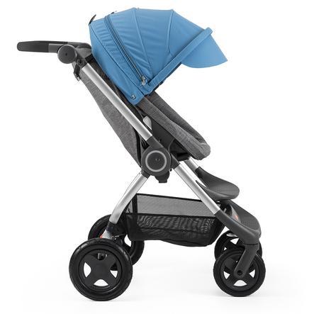 STOKKE® Scoot™ V2 Gestell Black Melange inkl. Sonnendach Blue
