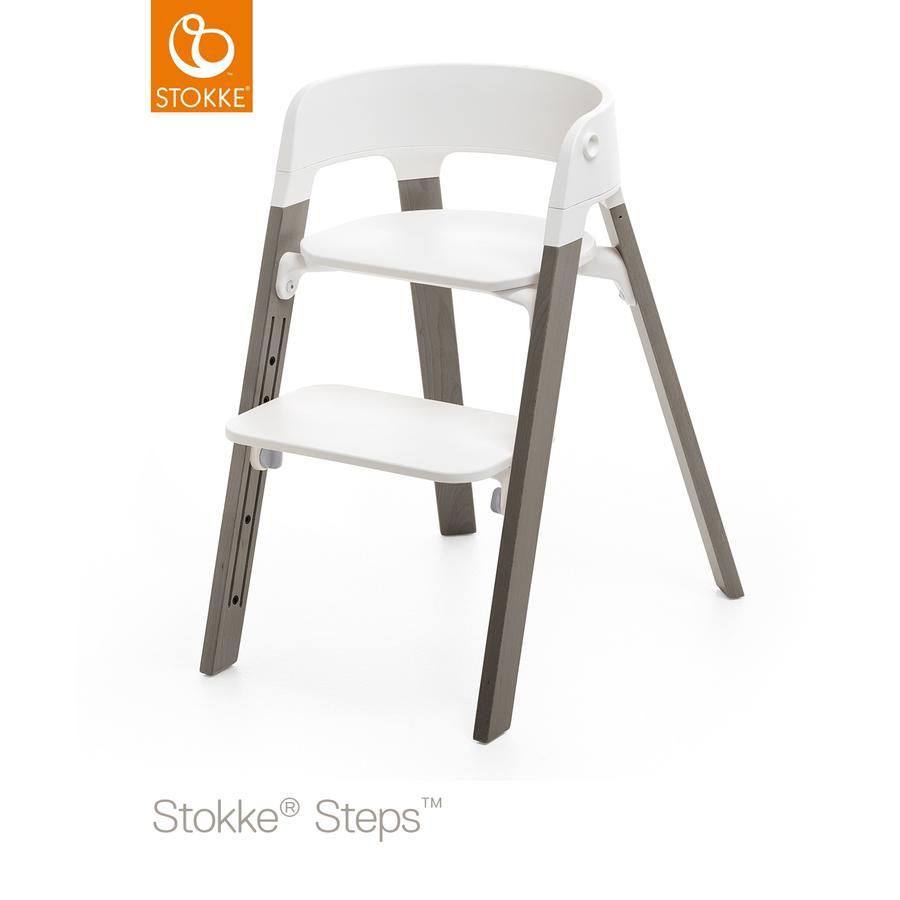STOKKE® Steps™ Hochstuhl weiß Buche Hazy Grey