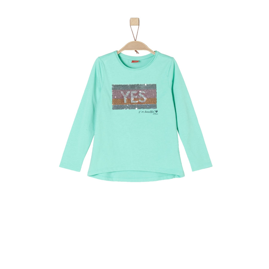 s.Oliver Girls Langarmshirt mint green