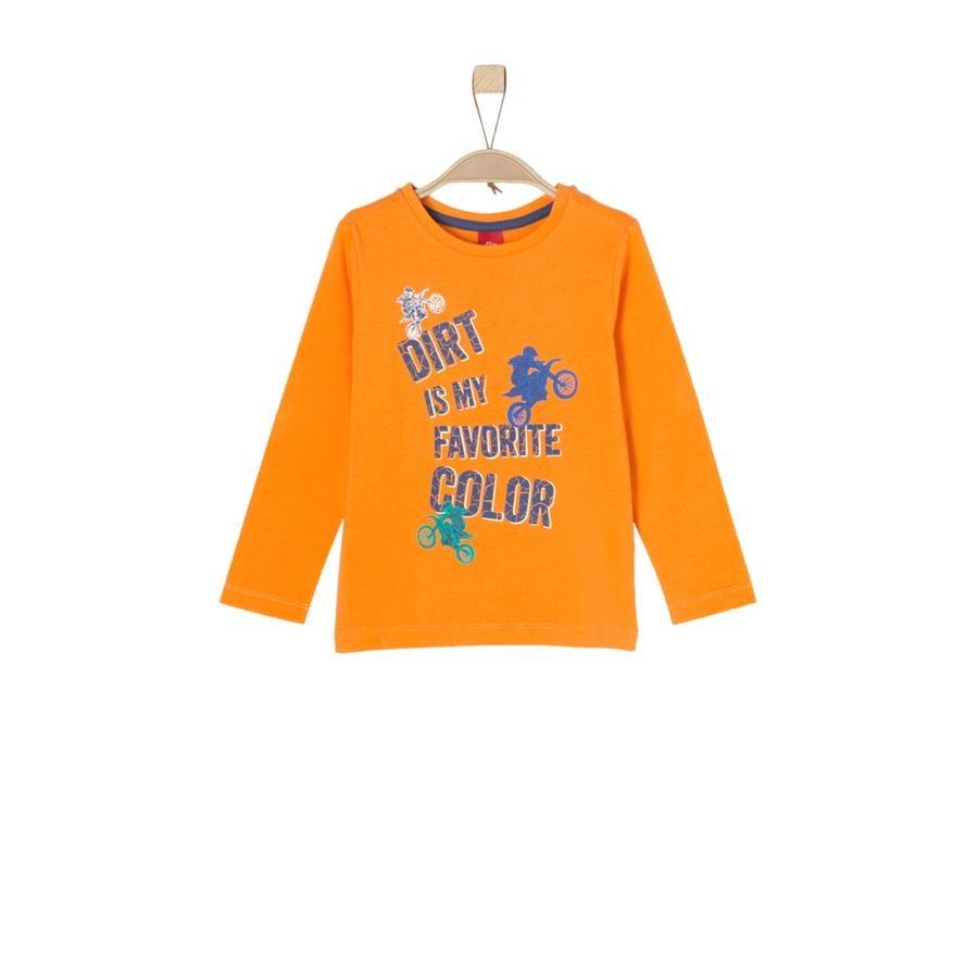 s.Oliver Boys Camisa manga larga naranja
