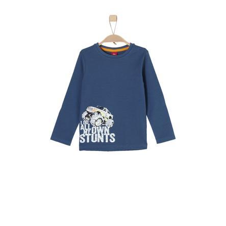 s.Oliver Boys Shirt met lange mouwen blauw