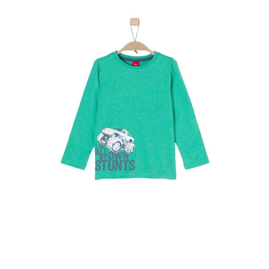 s.Oliver Boys Koszula z długim rękawem zielony melange