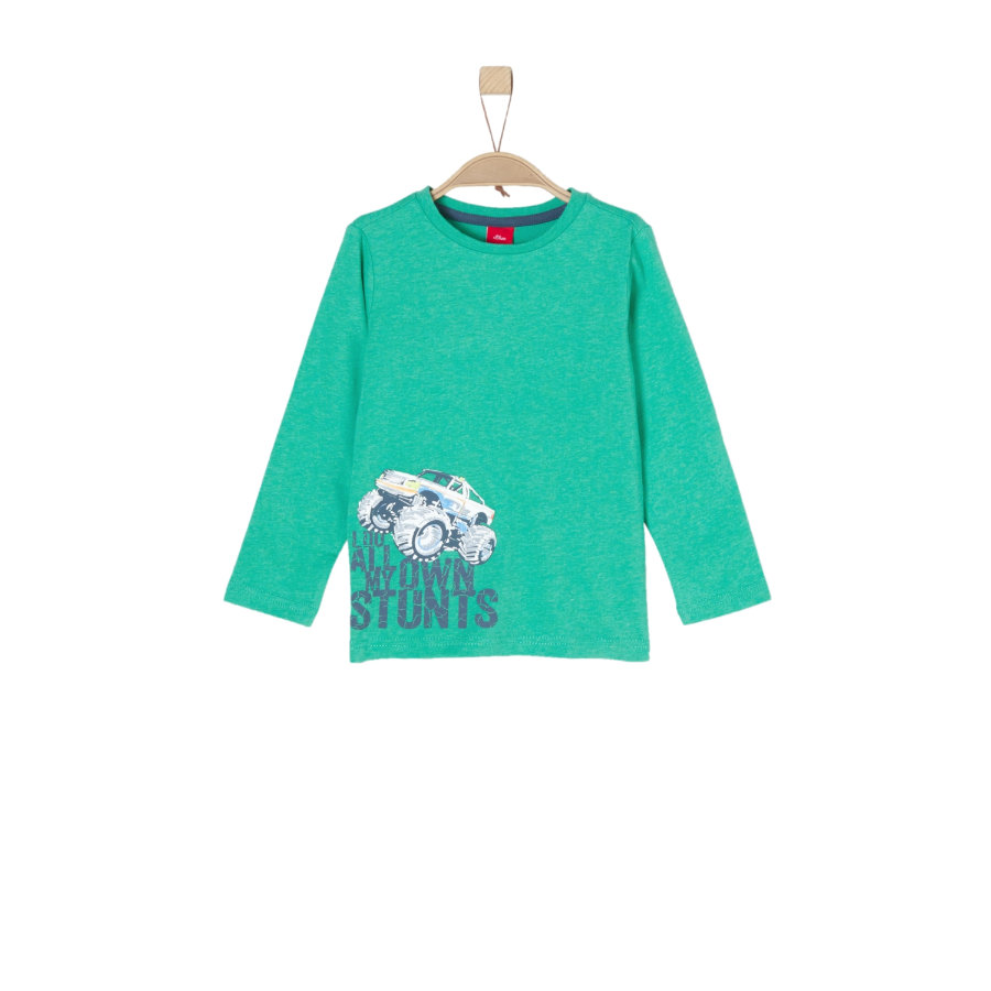 s.Oliver Boys Overhemd met lange mouwen groen melange