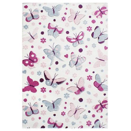 LIVONE lek og barneteppe Happy Rugs - sommerfugl, pastell multi, 120 x180 cm