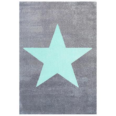LIVONE Tapijt Happy Rugs Star zilvergrijs/Mint, 160 x 230 cm