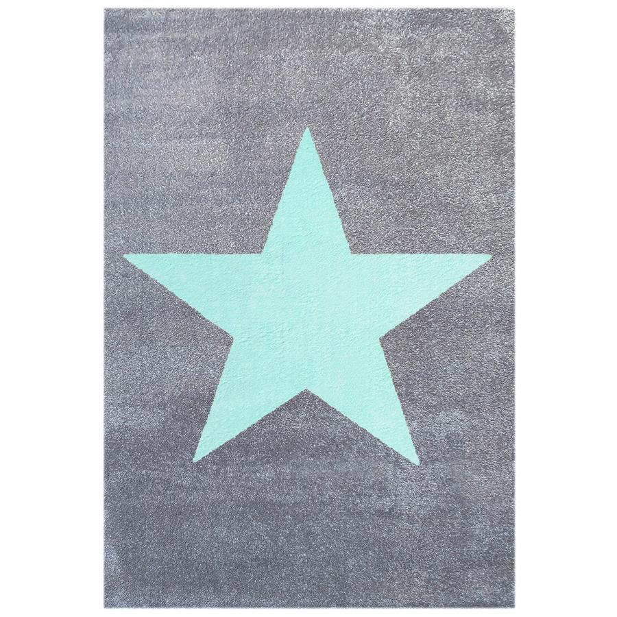 LIVONE Koberec Happy Rugs Point stříbrně šedá/růžová 160 x 230 cm