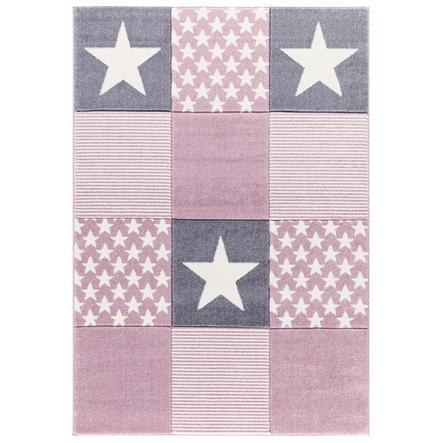 LIVONE lek og barneteppe Happy Rugs Starwalk 3, rosa 120 x 180 cm