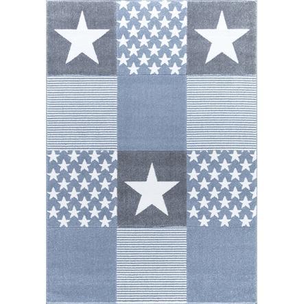 LIVONE lek og barneteppe Happy Rugs Starwalk 3, blå 120 x 180 cm