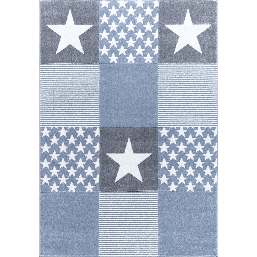 LIVONE Gulvtæppe Happy Rugs Starwalk 3 blå, 120 x 180 cm