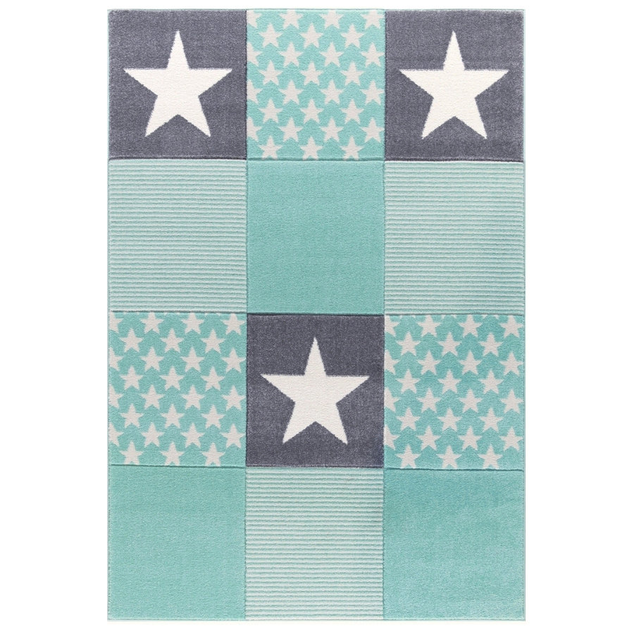 LIVONE Barnmatta Happy Rugs Starwalk 3, Mint 160 x 230 cm
